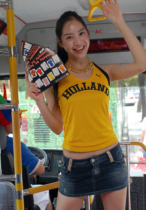 台湾足球宝贝可爱写真