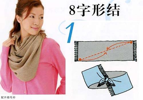 长围巾的系法图解 - 星辰花的日记-babytree