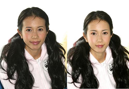 还原女明星真实的丑样 PS照片前后对比