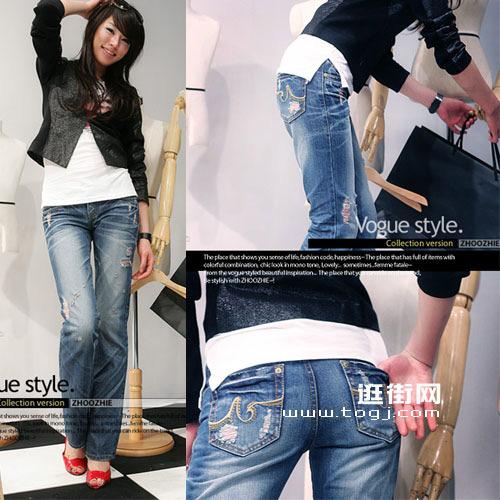女性消费 五款必备的最显瘦牛仔裤 图