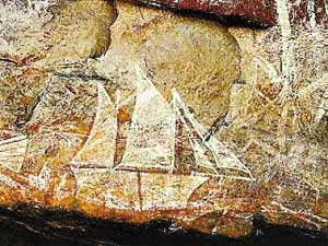 澳大利亞烏盧魯國家公園的岩畫。
