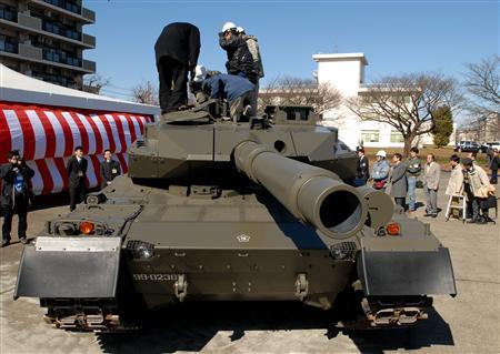 陆上自卫队的新型坦克[资料图片]