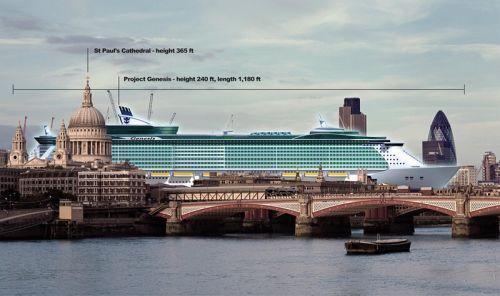 """世界最大邮轮将成海上""""中央公园"""""""
