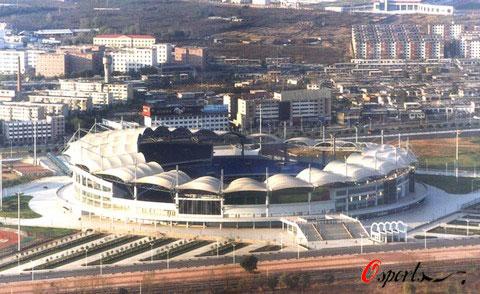 图文-秦皇岛奥体中心体育场巡礼 航拍图
