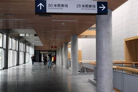 图文:北京射击馆正式验收交付 射击馆内标识清晰