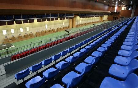 图文:北京射击馆验收交付 资格赛馆一层比赛大厅