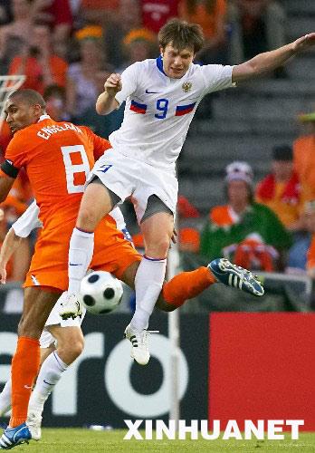 当日,在瑞士巴塞尔进行的2008年欧锦赛四分之一决赛中,荷兰队对阵