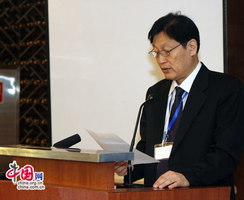 中国住房和城乡建设部村镇建设办公室主任--李兵弟致词