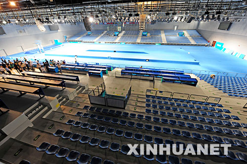 这是5月15日拍摄的国家会议中心击剑馆内景。 新华社记者杜华举摄
