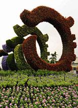 奥运主题花坛
