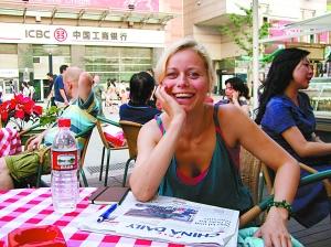 采访捷克美女记者 嫉妒北京拥有798