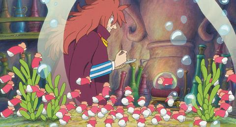 宫崎骏新作 悬崖上的金鱼姬 三天票房吸金一亿