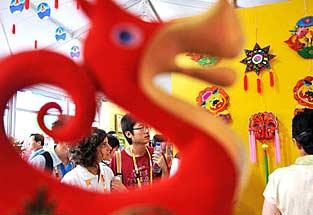 彰显独特中国文化——奥运村里的中国元素[图集]