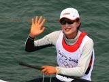 8月6日,青岛奥帆中心,徐莉佳在训练中。