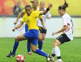 进攻精彩运气欠佳 巴西女足首秀0-0战平德国队