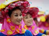 北京奥运会开幕式垫场演出 婀娜身姿展民族风情