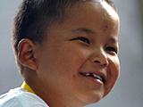 抗震救灾小英雄林浩参加奥运开幕式