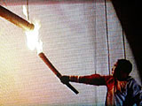 08奧運開幕式:李寧點燃奧運主火炬