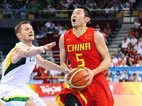 男籃複賽:中國對陣立陶宛[組圖]