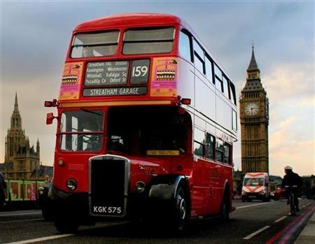 伦敦的双层巴士