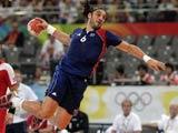 8月24日,在北京國家體育館舉行的北京奧運會手球男子決賽中,法國隊戰勝冰島隊奪得冠軍。