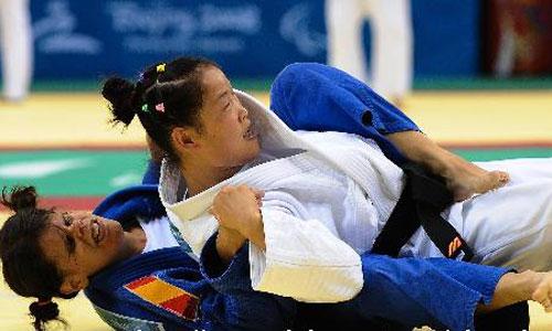 盲人柔道女子48公斤级 中国选手郭华平夺冠(2金) - 永不言败 - 永不言败欢迎您