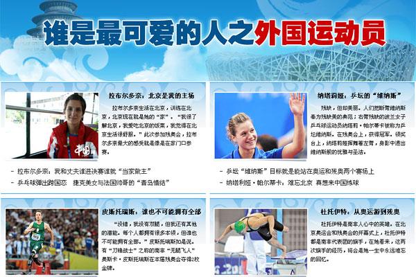谁是最可爱的人 北京残奥会答案揭晓