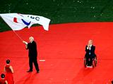 克雷文宣佈殘奧會閉幕並交接殘奧會旗[組圖]