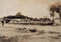 景山遠景 佚名攝于1900年左右 蛋白紙基