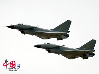 2008珠海航展:中国空军歼十战机飞行表演[图集]