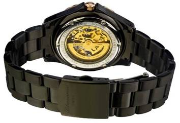 腕表艺术完美结合的体现.<img>litwanner自动手表上足发条时高清图片