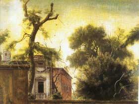 老花园 画布 油性坦培拉 60×50cm 1947 佛罗伦萨 洛塞拉 阿尼戈尼收藏