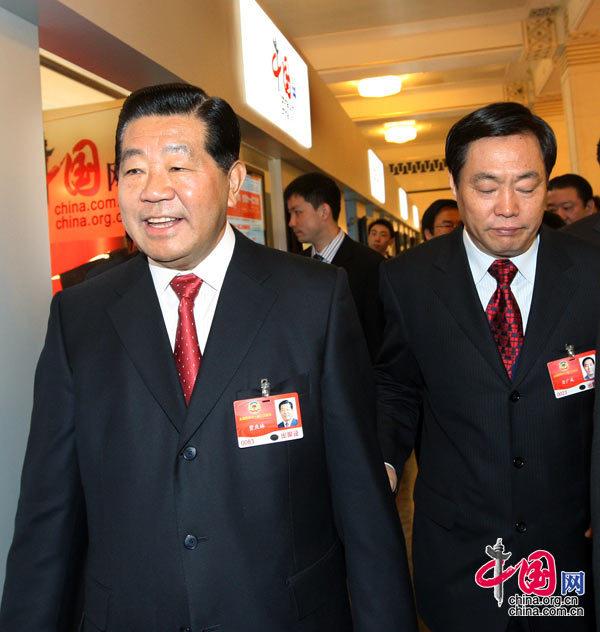 賈慶林走進中國網訪談間[組圖]