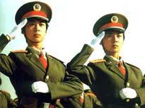 河南姐妹花双双入选建国60周年国庆阅兵方阵[组图]