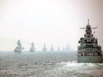 新中国60年海上阅兵舰艇编队