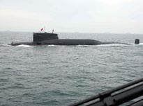 新中国60年海上阅兵潜艇编队