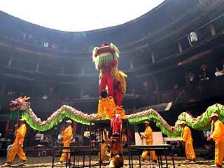 圖片中國:梅林土樓媽祖文化節[組圖]