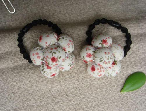 图示 DIY韩版花朵头饰