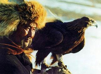 哈萨克族的驯鹰术