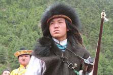 米林文化节上的珞巴人