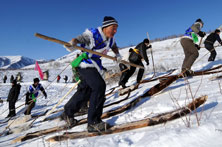 蒙古族圖瓦人的滑雪技藝