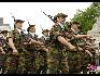 在比利时国庆阅兵式上,非洲任务参与者编队。(图片由比利时驻华使馆提供)