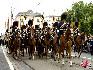 在比利时国庆阅兵式上,皇家护卫骑士编队。(图片由比利时驻华使馆提供)