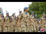 在比利时国庆阅兵式上,联合国黎巴嫩维和行动参与者编队。(图片由比利时驻华使馆提供)