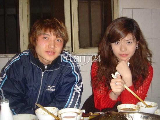 汪嵩与女朋友曾美娟的生活照