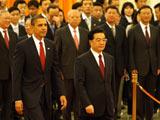 胡锦涛举行仪式欢迎美国总统奥巴马访华