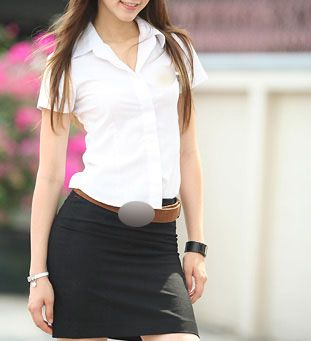 街拍!泰国性感这是真女生大学校服(图)适合两个学生v性感图片