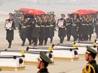 八位遇难中国维和警察灵柩抵达北京