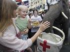 泰国大象为海地灾区募捐[组图]