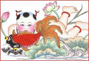 快乐春节 我要贴年画